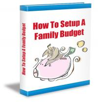 How to Setup a Family Budget